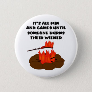 Wiener Burn Pinback Button