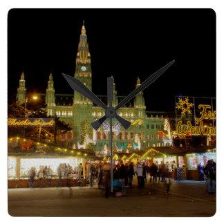 Wiener Christkindlmarkt Square Wall Clock
