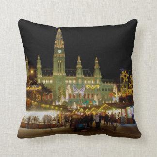 Wiener Christkindlmarkt Throw Pillow