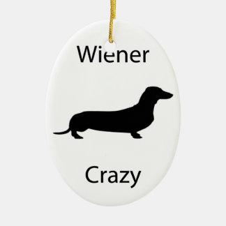 Wiener crazy ceramic ornament