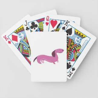 Wiener Dog Bicycle Playing Cards