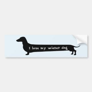 Wiener dog bumpersticker bumper sticker