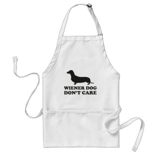Wiener Dog Don't Care Adult Apron