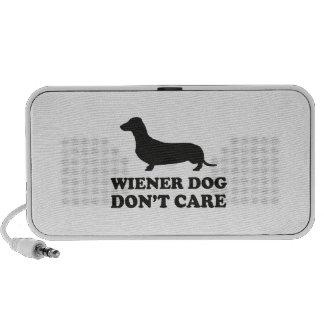 Wiener Dog Don't Care Notebook Speaker