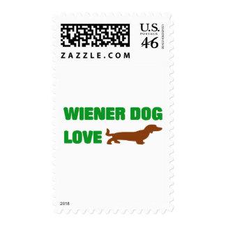 Wiener Dog Love Postage Stamp