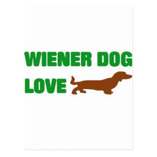 Wiener Dog Love Postcard