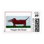 Wiener Dog Postage Stamp