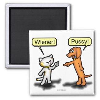 Wiener Dog & Pussycat Nemesis Magnet magnet