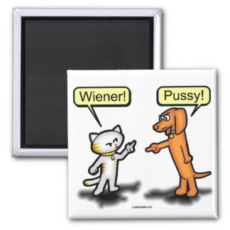 Wiener Dog & Pussycat Nemesis Magnet