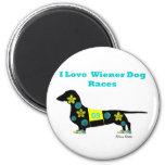 Wiener Dog Races 2 Inch Round Magnet