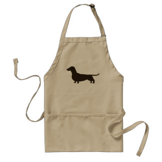 Wiener Dog Silhouette (Short Haired Dachshund) Adult Apron