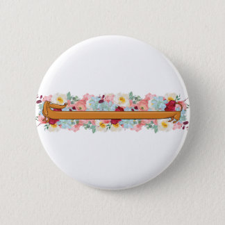 Wiener Dog with Flowers Button