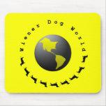 Wiener Dog World Graphic Mousepad