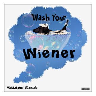 Wiener Dogs Need Washing Wall Decal