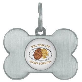 Wiener Schnitzel Pet Tag