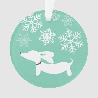 Wiener Wonderland Doxie Christmas Tree Ornament