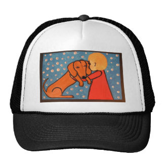 wienerdog and babygirl trucker hats