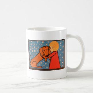 wienerdog and babygirl mug