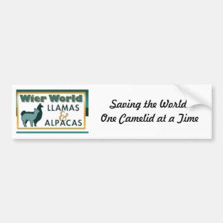 Wier World Llamas Car Bumper Sticker