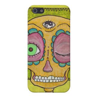 wierd sugar skull iPhone SE/5/5s cover