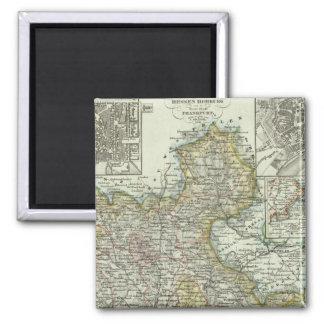 Wiesbaden and Frankfurt Germany Fridge Magnet