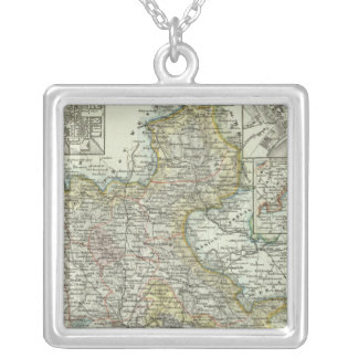 Wiesbaden and Frankfurt Germany Square Pendant Necklace