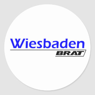 Wiesbaden Brat -A001L Classic Round Sticker