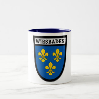 Wiesbaden Coat of Arms (Wappen) 0010 Two-Tone Coffee Mug