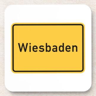Wiesbaden, Germany Road Sign Coaster