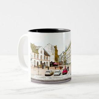 Wiesbaden, market place, Street view - Germany Two-Tone Coffee Mug