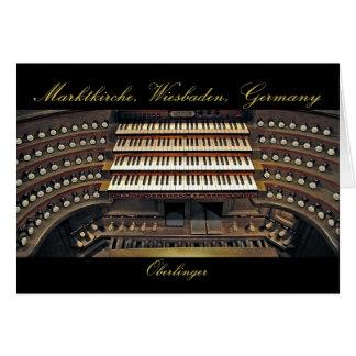Wiesbaden pipe organ card