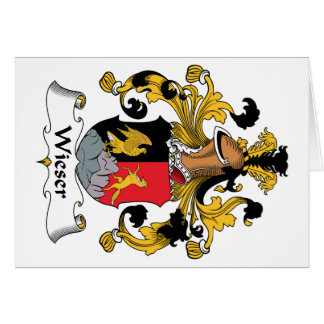 Wieser Family Crest Card