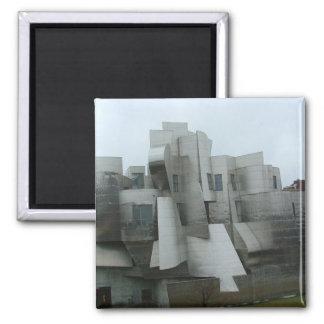 Wiesman Art Museum 2 Inch Square Magnet