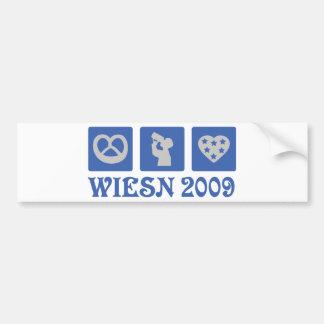 wiesn 2009 pegatina de parachoque