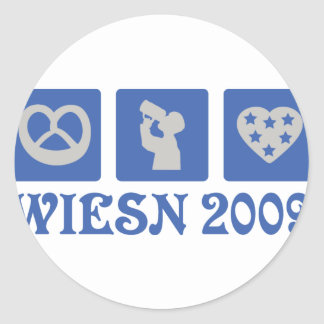 wiesn 2009 classic round sticker