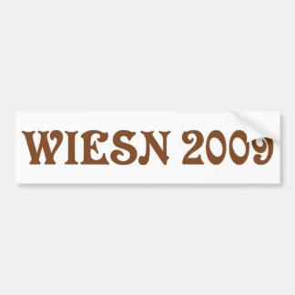 wiesn 2009 icon bumper sticker
