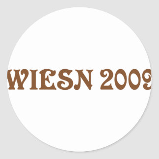 wiesn 2009 icon classic round sticker