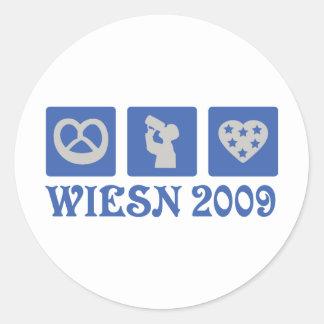 wiesn 2009 pegatina redonda