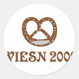 wiesn brezel 2009 icon classic round sticker