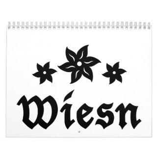 Wiesn Oktoberfest Edelweiss Calendar