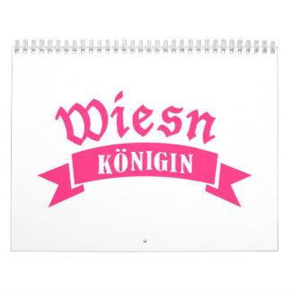 Wiesn Oktoberfest Königin Calendar