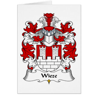 Wieze Family Crest Greeting Card
