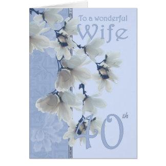 Wife 40 Birthday - Birthday Card Wife
