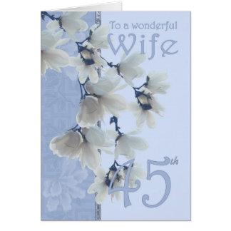 Wife 45 Birthday - Birthday Card Wife