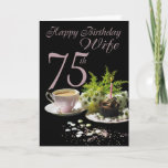 "Wife 75 Birthday - Birthday Card Wife<br><div class=""desc"">Wife 75 Birthday - Birthday Card Wife</div>"
