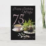 "Wife 75 Birthday - Birthday Card Wife<br><div class=""desc"">Wife 75 Birthday - Birthday Card Wife</div>"