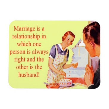 AVintageLife Wife Always Right Marriage Magnet