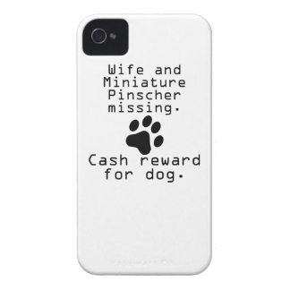 Wife And Miniature Pinscher Missing iPhone 4 Case