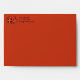 Wife Anniversary Orange Azaleas Envelope