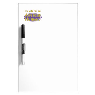 Wife Awesome Husband Purple Gold Dry-Erase Boards